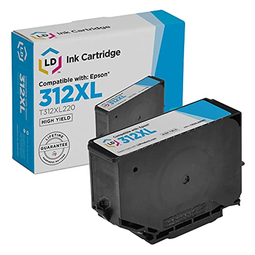 LD Remanufactured Ink Cartridge Replacement for Epson 312XL T312XL220 High Yield (Cyan)