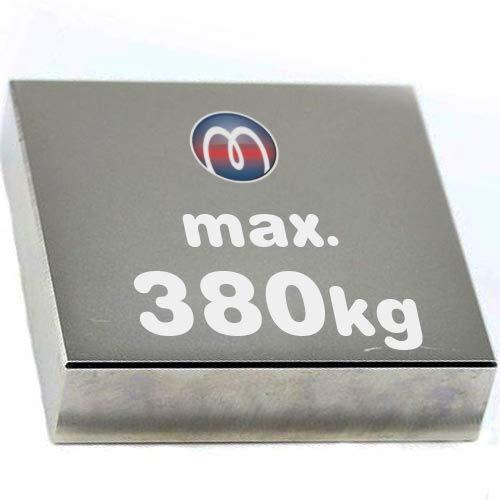 Imán rectangular Bloque magnético Neodimio - 80 x 80 x 10mm - Neodimio N52 (NdFeB) Níquel - Fuerza de sujeción 380 kg - Imanes permanentes super potentes de Tierras Raras para la industria y el hogar