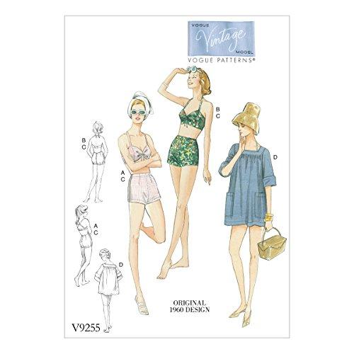 Vogue Mustern Schnittmuster BH/Shorts und Verschleierung, mehrfarbig, Größen 6–14