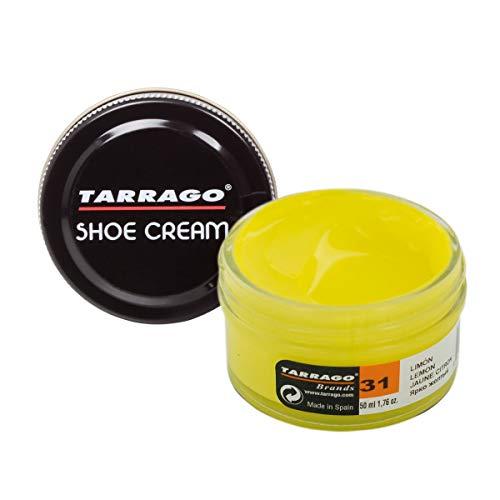 Tarrago Schuhcreme, Unisex, für Erwachsene, Tiegel mit 50ml, gelb - Yellow (Lemon 31) - Größe: 30 EU Kind