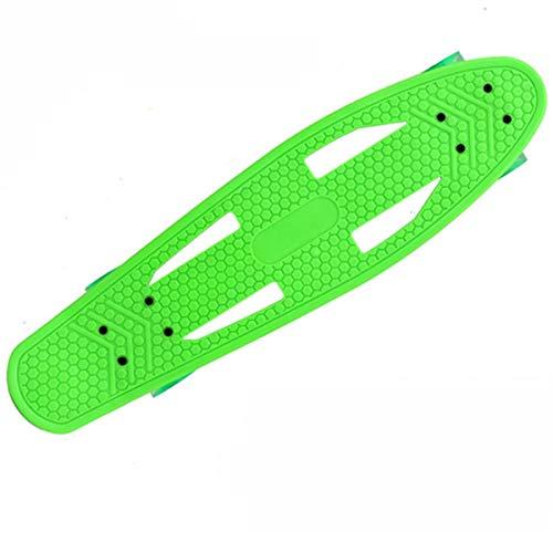 Adultos Mini Monopatín De Crucero Completo, Adecuado para Principiantes Jóvenes, Profesionales, Equipados con Luces LED Coloridas (Color : Green)