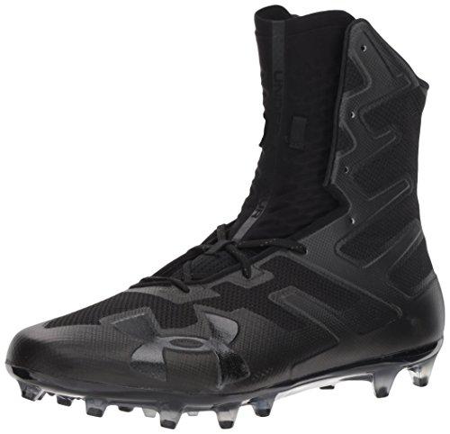Under Armour Men's Highlight MC Football Shoe, Black (001)/Black, 10