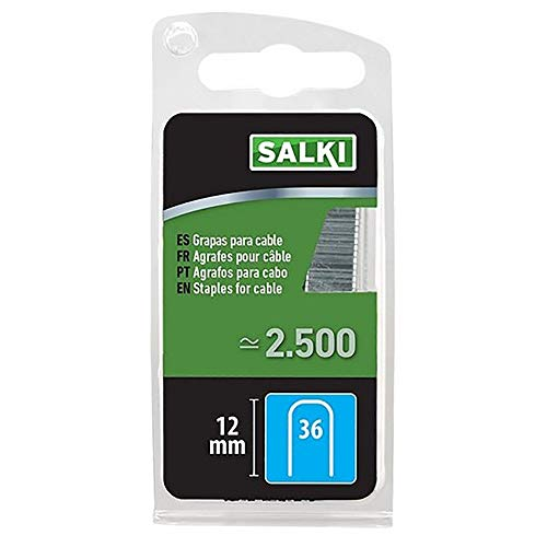 salki 86803612 Grapa 36/12 mm para Cable de Baja Tensión, Metal, L