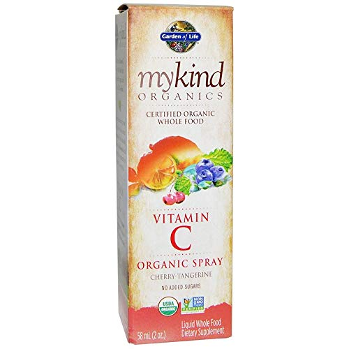 Garden of Life, Mykind Organics, Vitamin C, Organic Spray, Cherry-Tangerine, 2 fl oz (58 ml)