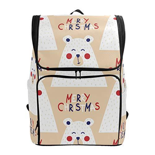 Chic Houses Mochila de Navidad oso polar para niña para niño 2030147