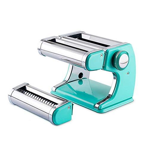 ANHPI Nudelmaschine Edelstahl Haushalt Multifunktions-2 Blades Professionelle Frische Pasta Lasagne Spaghetti Tagliatelle Make-Küche-Werkzeug (Color : Blue)