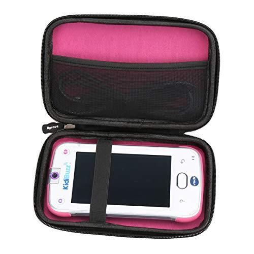 Aproca Hard Storage Travel Case Bag for VTech KidiBuzz / VTech KidiBuzz G2(Black - Inner Pink)