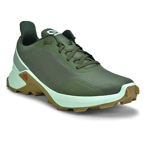 Salomon Men's ALPHACROSS Trail Running Shoe, Grape Leaf/White/Gum1a, 7