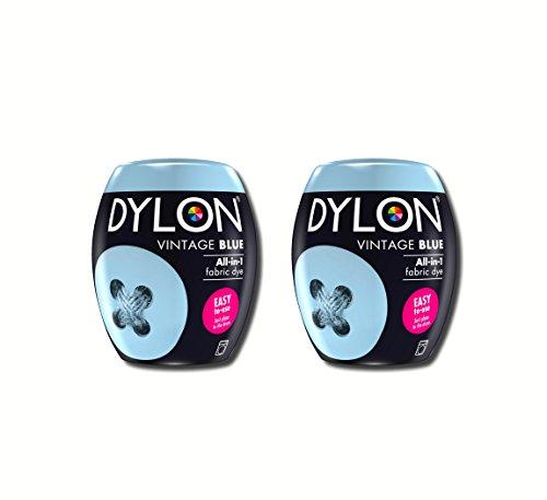 Neue Dylon 350g Jahrgang Blau Maschinenfarbstoff Aushülsen 2 Pack