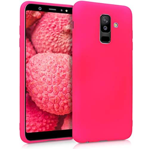 kwmobile Cover Compatibile con Samsung Galaxy A6+/A6 Plus (2018) - Cover Custodia in Silicone TPU - Backcover Protezione Posteriore - Rosa Shocking