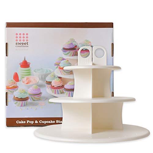PROKITCHEN 2in1 Cakepop-Ständer, 3 stöckige Tortenständer Etagere ideal für Cupcakes/Cakepops, für Geburtstag, Hochzeit und Party(in Zwei verschiedenen Höhen)