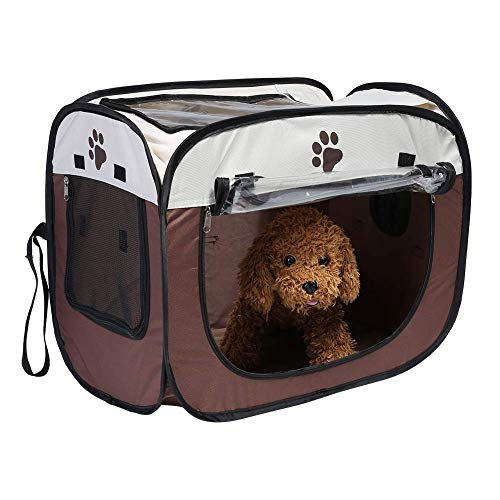 Mumusuki Pet Hair Drying Box Portable Folding Puppy Dryer Cage Hands-Free Doggy Grooming Hair Clearing Travel Bags for Cats Dogs Rabbit