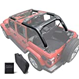 Shadeidea Roll Bar Padding for Jeep Wrangler JL Unlimited (2018-Current) 4 Door -Black Vinyl Foam Laminated Pad Cover Kit Protection JLU Sahara Rubicon with Grab Bag-3 Years Warranty