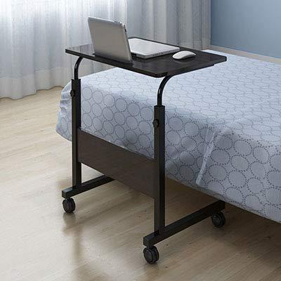 ADSIKOOJF Uitneembare Laptop Tafel Bed Bureau Notebook Stand Tafel Slaapbank Bed Verstelbare Draagbare Computer Bureau Met Wielen 40 * 60CM
