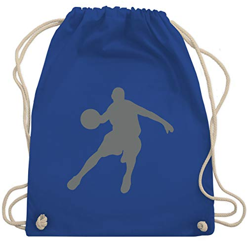 Shirtracer Basketball - Basketballspieler - Unisize - Royalblau - basketball trikot kinder - WM110 - Turnbeutel und Stoffbeutel aus Baumwolle
