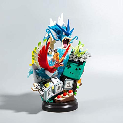 BHNACM Pokemon Ho-Oh Celebi Gyarados Abbildung Animierte Figur Modell-Dekoration Statue B