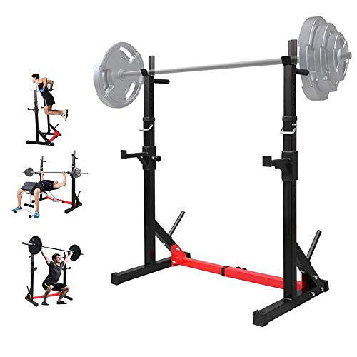 TANTIKC Household Indoor Fitness Adjustable Multifunctional Barbell Rack Squat Bench Press Trainer