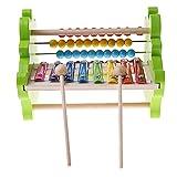 Perfeclan Xylophon 8 Töne Holz Kuhform Handschlag Klavier für Pädagogisches Baby Spielzeug - Kuh