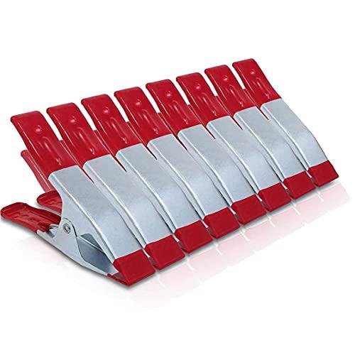 Pinza de resorte de metal de servicio pesado Clip fuerte Grip de goma recubierto 6 pulgadas para camping Tarpaulin DIY Projects Rojo 8PCSPRACticos herramientas industriales