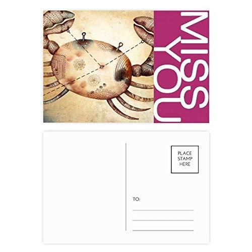 Juni Juli Kanker sterrenbeeld Zodiac Miss Postkaart Set Thanks Card Mailing Zijde 20 stks