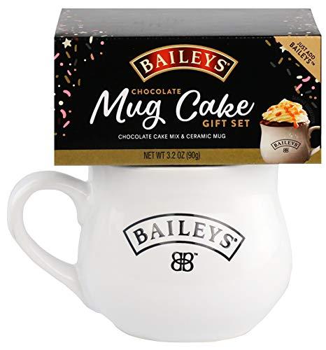 Thoughtfully Gifts, Baileys Mug Cake, Includes Ceramic Mug and Chocolate Cake Mix (Contains NO Alcohol)