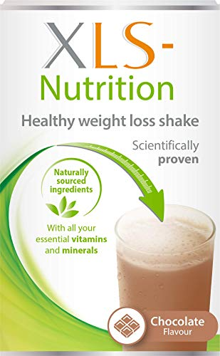XLS-Nutrition Weight Loss Meal Replacement Shake - Weight Control Diet Supplement, 400 g, Chocolate Flavour, 10 Servings