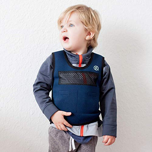 Weighted Compression Vest for Children (Ages 2 to 4) by Harkla - Helps with Autism, ADHD, Mood,...