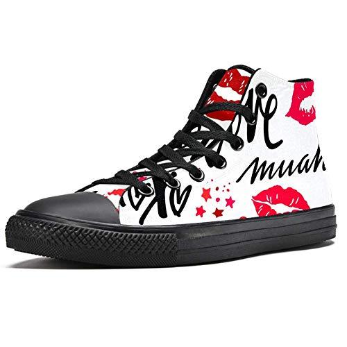 LORVIES - Zapatillas de deporte para mujer, color rojo, (multicolor), 46 EU
