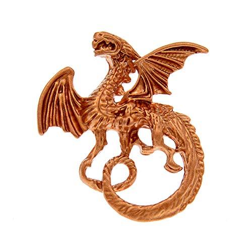 WANGGW Broche De Ropa Femenina, Broches De Dragón Esmaltados para Mujer, Pin Animal De Moda, Accesorios De Abrigo De 3 Colores, Joyería