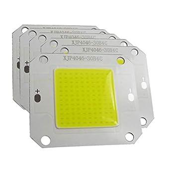 Nagulagu 10PCS 50W Cold White 20000K COB LED High Power led Light DC30-32V