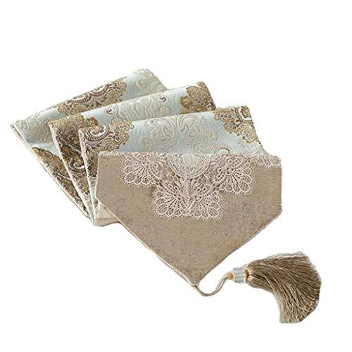 Tafelloper Lace High Precision Jacquard stof Tassel Tabel Vlag Dik Servet Chic Wedding Festival tablewear Decor Tafelkleed-4.13 (Size : 33 * 140cm)