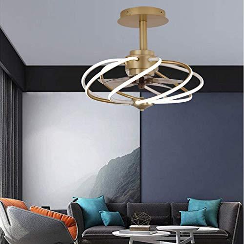 miwaimao Ventilador de techo lámpara tradicional con ventilador de araña, luces LED, lámpara de techo silenciosa, para dormitorio, restaurante, despacho, salón, comedor