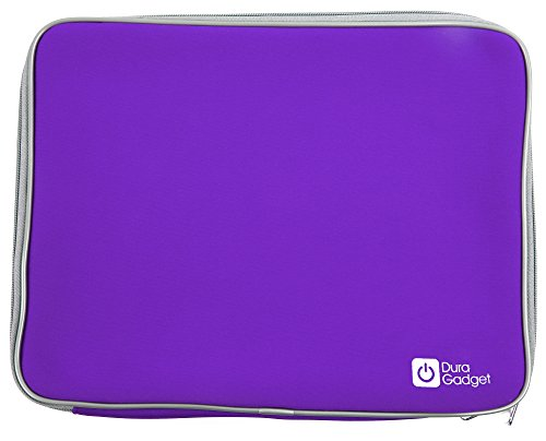 """DURAGADGET Purple 13"""" Water & Shock-Resistant Neoprene Case - Compatible with Discovery Kids Teach & Talk Exploration Laptop"""