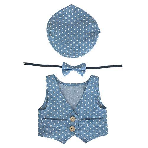 TININNA Unisex Baby Jungen Mädchen Outfits Set Neugeborenen Kleidung Requisiten Set Kostüm Fotografie Prop Outfits Hüte und Bow tie Set