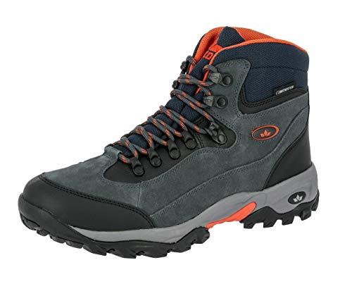 Lico Milan, Chaussures de Randonnée Hautes Homme, Noir (Anthrazit/Orange Anthrazit/Orange), 45 EU