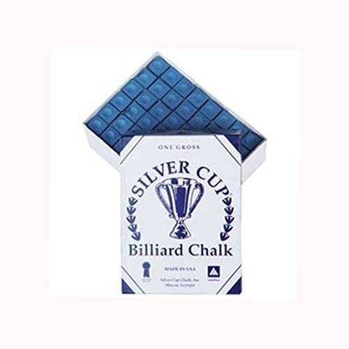 Silver Cup Marque Billard Craie, Boîte de 144, Couleur Bleu