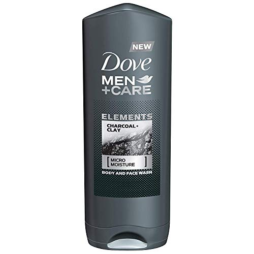 Dove Men + Care Elements Body Wash, Charcoal and Clay, 13.5 Ounce(Pack of...