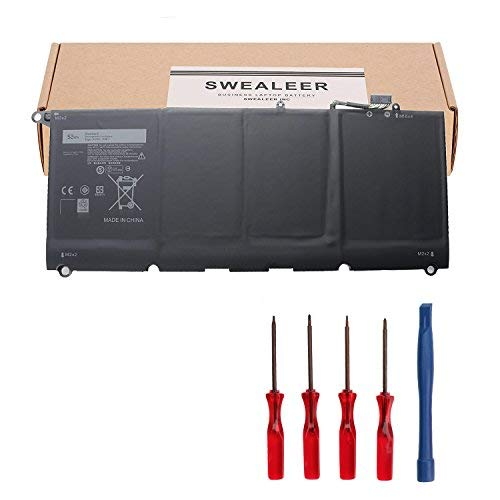 SWEALEER JD25G Laptop Battery Compatible with Dell XPS 13 9343 9350 13D-9343 Laptop Replacement for 90V7W 5K9CP DIN02 0DRRP JHXPY 0N7T6 RWT1R 13D-9343-1808T [New Li-ion 4 Cell 52WH 7.4V jd25g]
