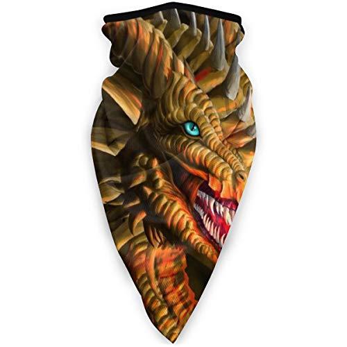 BJAMAJ Asiatique Dragon Wallpaper Extérieur Visage Bouche Masque Coupe-Vent Masque de Sport Masque Masque de Ski Bouclier Écharpe Bandana Hommes Femme