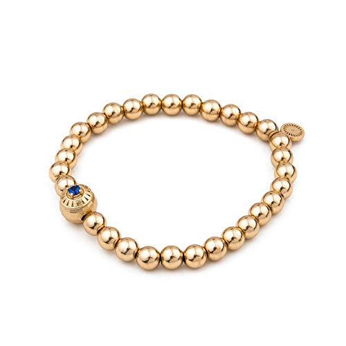 Honey Minx Women's Radiant Signet Bracelet Gold Sapphire