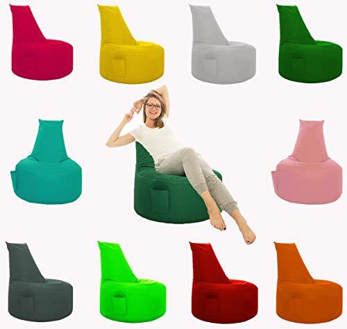 GlueckBean Hochwertiger Sitzsack mit Seitentaschen - Indoor & Outdoor - Gaming Sessel Sitzkissen mit Styroporkugeln Füllung - auch ideal für Kinderzimmer (Erwachsene, Lila)