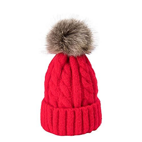 Bonnet Bébé Bonnet Hiver pour Bébé, Fille Unisex Bonnet Chapeau Tricoté Casquette Pompom Marin Enfant Fille Garçon Noël