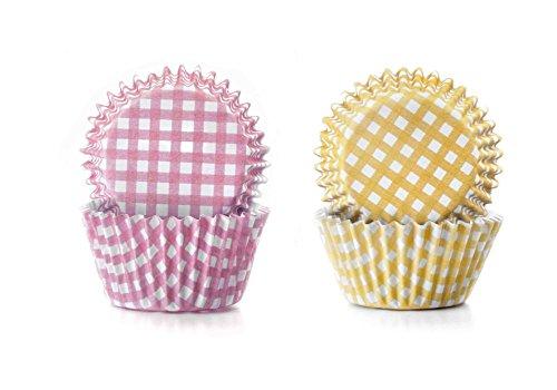 Ibili Mini-Muffinförmchen 100 Stück, Papier, gelb/rosa/weiß, 24 x 16 x 4 cm, 100-Einheiten
