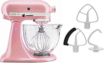 KitchenAid 5-Quart Stand Mixer Glass Bowl Guava Pink