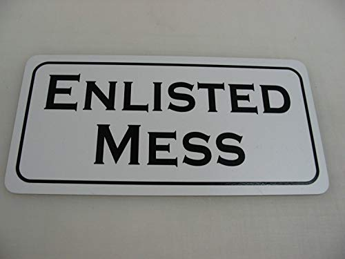 ENLISTED MESS Metalen bord voor Farm Ranch of Kitchen Decor Golf Course Club Man Cave Home Bar Sex Bed Room Back Yard