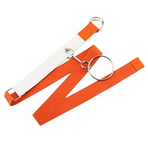 PRETYZOOM Orange Ceinture de Golf Casual en Plein Air Toile D Anneau Boucle Ceinture en Toile Ceinture Jeans Sangle