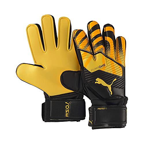 Puma One Protect 3 Jr RC, Guanti Portiere Unisex-Adult, Ultra Yellow Black White, 5