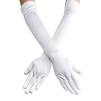 Best white satin gloves Reviews