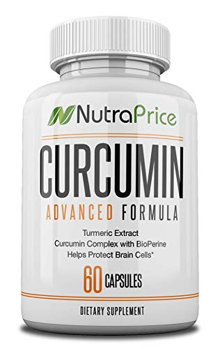 NutraPrice Organic Turmeric Curcumin Supplement with Bioperine - Best for Pain Relief, Inflammation, Blood Pressure Support - Pure 95% Standardized Curcuminiods - XX 42,000 mg Capsules