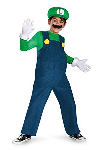 Generique - Kostüm Luigi für Kinder - hochwertig 128/134 (7-8 Jahre)